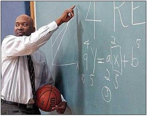 4 Real Math at Board with Basketball Medium